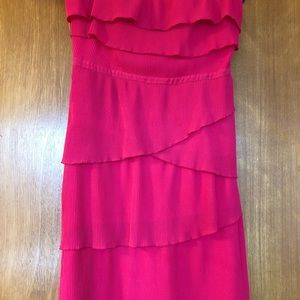 UO Pins and Needles Women's Ruffled Pink Dress